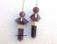 Picture of Amethyst 3piece Herkimer Pendulum