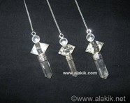 Picture of 3pc Crystal Quartz Herkimer Pendulum