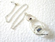 Picture of Crystal Quartz Herkimer with Garnet Cab Pendulum