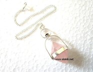 Picture of Rose Quartz Herkimer with Garnet Cab Pendulum