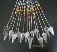Picture of Facetted Crystal Quartz with Chakra chain