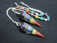 Picture of Bonded Chakra Cone Pendulum with chakra chain