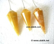 Picture of Golden quartz Facetted pendulum