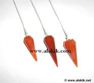 Picture of Red Carnelian Faceted Pendulum