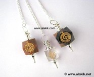 Picture of Mix Stone hexagon Engrave Cho Ko Reiki pendulum