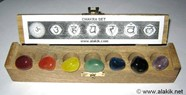 Picture of Chakra Tumble set with wooden Box