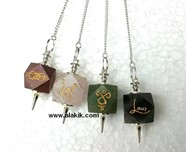 Picture of Rainbow Reiki Hexagon pendulum Set