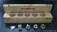 Picture of Crystal Quartz 5pcs Geometry Set with Wooden Box