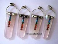 Picture of Rose Quartz Chakra Flat stick pendant