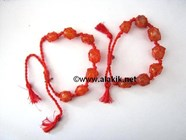 Picture of Red Carnelian Netted Tumble D-string Bracelet