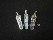 Picture of Crystal Quartz Wire Wrap D point Pendant