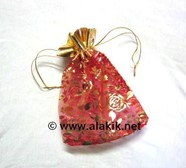 Picture of Satin Pouch Red Colour (Big)