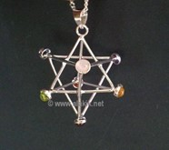 Picture of Chakra Merkaba Star Metal Pendant