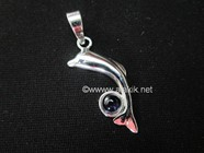 Picture of Dolphin with Iolite Cab 925 pendant