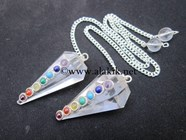 Picture of Crystal Pendulum w/.Chakra Cabs