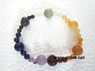 Picture of 7 chakra elastic Bracelet 4x1 beads