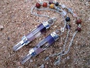 Picture of Bonded RAC 3pc Wand Pendulum with Chakra chain