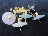Picture of Mix Gemstone Golden UFO Pendulum