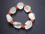 Picture of Crystal Quartz tumble engrave Om Bracelet