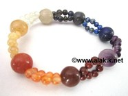 Picture of 7 chakra Double line bracelet
