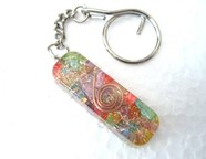 Picture of Chakra Tube orgone key ring