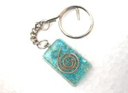 Picture of Tourquise rectangle orgone key ring