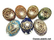 Picture of Engrave Chakra Orgone oval Set