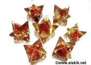 Picture of Red Cornelian Orgone Merkaba Star