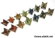 Picture of Chakra Orgone Merkaba Star Set