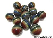 Picture of Chakra Bonded Gemstone Spheres Balls