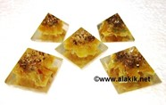 Picture of Baby Orgone Yellow Jade Pyramid