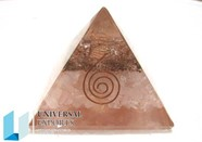 Picture of Rose Quartz Orgone pyramids with coil point