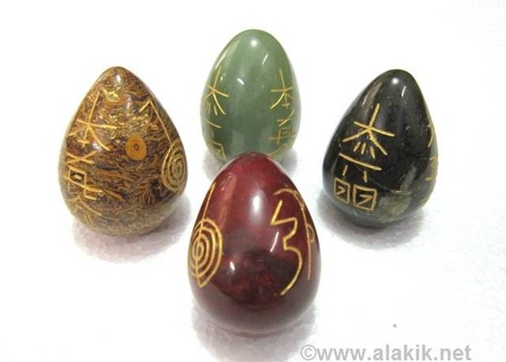 Picture of Mix Gemstone Engrave USAI Reiki Eggs