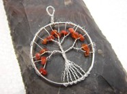 Picture of Red Carnelian Tree of Life Pendant