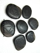 Picture of Black obsidian Chakra Emboss Sets