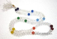 Picture of Chakra Crystal Beads 8x1 Japa mala