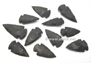 Picture of Black Agate Matt Arrowheads 2inch