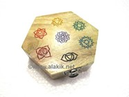Picture of Hexagonal Engraved Chakra Colourful Box
