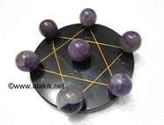 Picture of Pentagram Grid Disc with Amethyst Balls