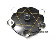Picture of Pentagram Grid Disc with Crystal Quartz Balls