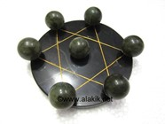 Picture of Pentagram Grid Disc with Labradorite Balls