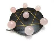 Picture of Pentagram Grid Disc with Rose Quartz Balls