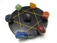 Picture of Pentagram Grid Disc with Chakra Tumble Set