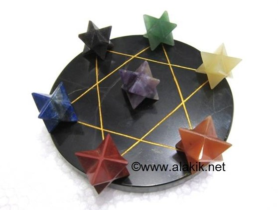 Picture of Pentagram Grid Disc with Merkaba Set