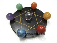 Picture of Pentagram Grid Disc with Chakra ball Set