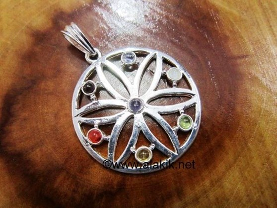 Picture of Chakra Wheel Metal Pendant