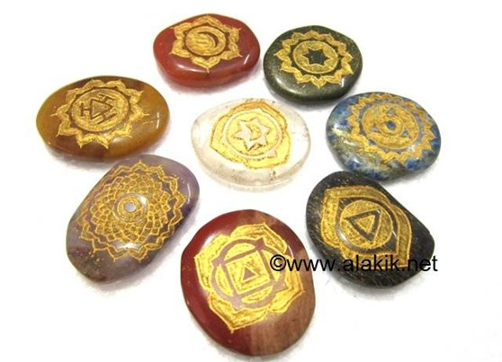 Picture of Double Engraved 8 Chakra Set