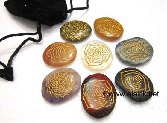 Picture of Muldara 8 Chakra stone set with pouch