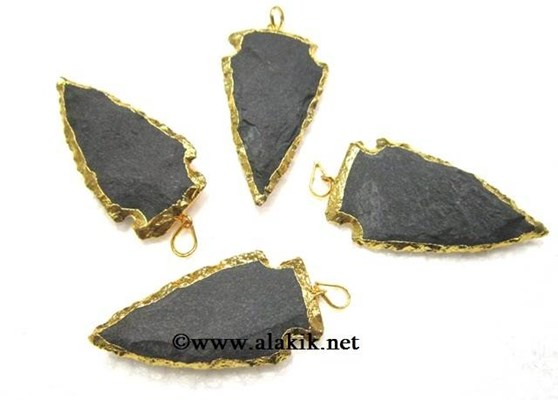 Picture of Black Matt Arrowheads with Gold Electropated