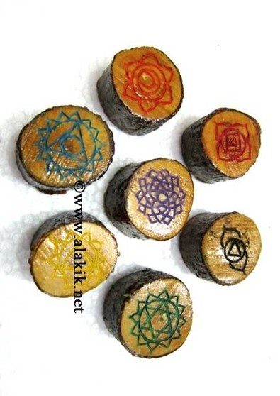 Picture of Chakra Engrave Colourful Wooden set